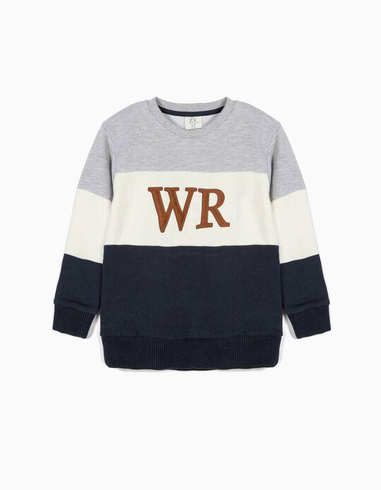 Sweatshirt para Menino 'WR', Tricolor