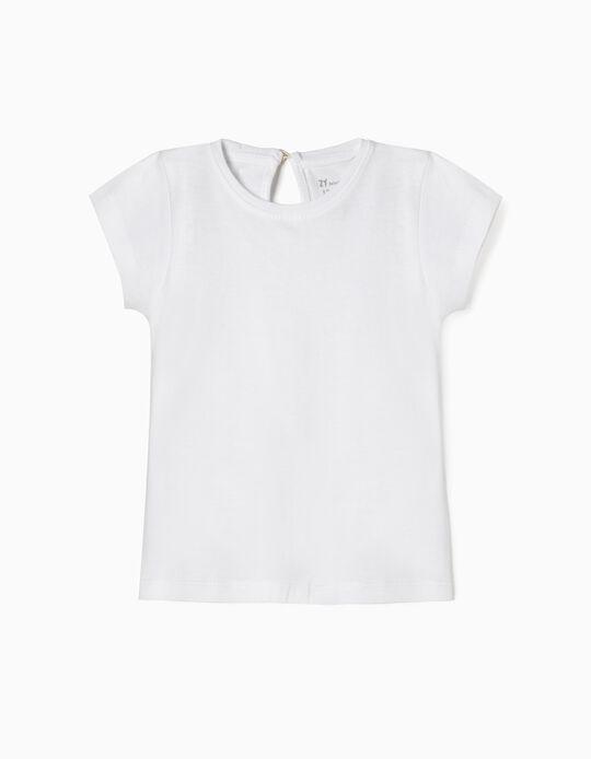 T-shirt para Bebé Menina, Branco
