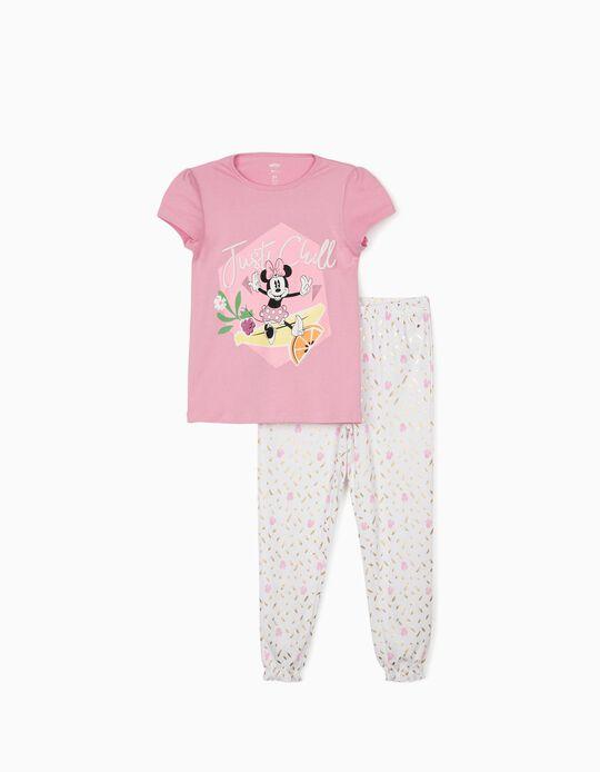 Pijama para Niña 'Minnie Just Chill', Rosa/Blanco