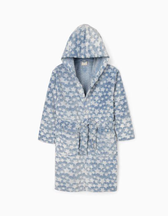 Hooded Robe for Boys 'Stars', Blue