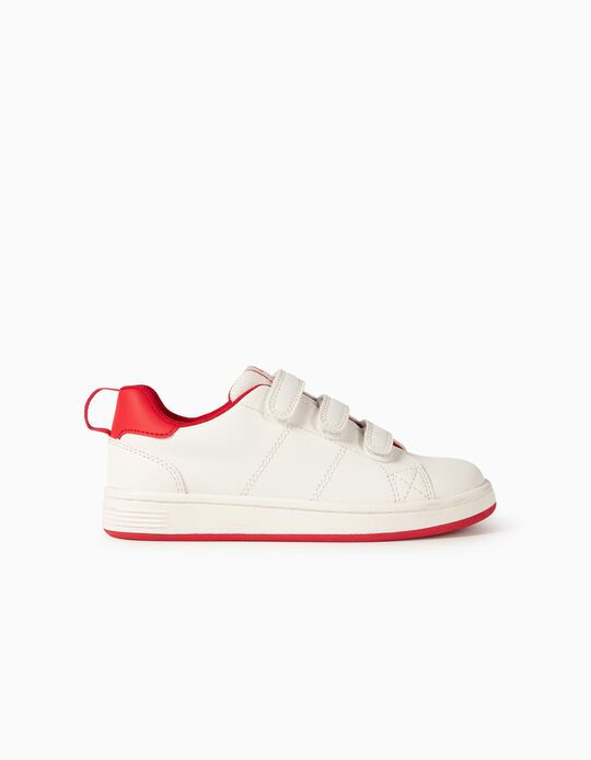 Baskets enfant 'ZY 1996', blanc/rouge