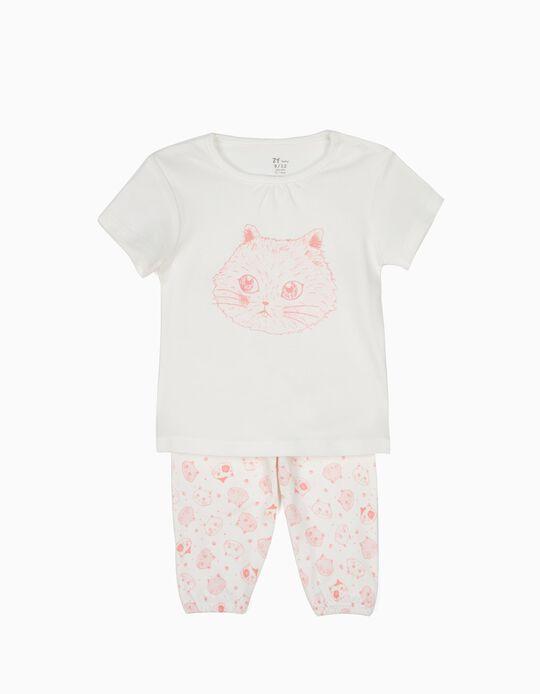 Pijama T-shirt e Calças Cats