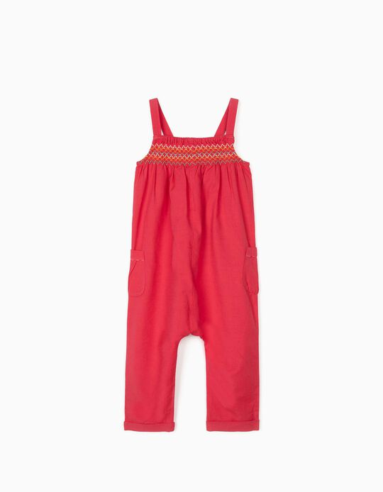 Jumpsuit with Linen for Baby Girls, Pink