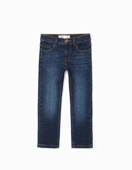 Pantalón Vaquero para Niño 'Regular Fit', Azul Oscuro
