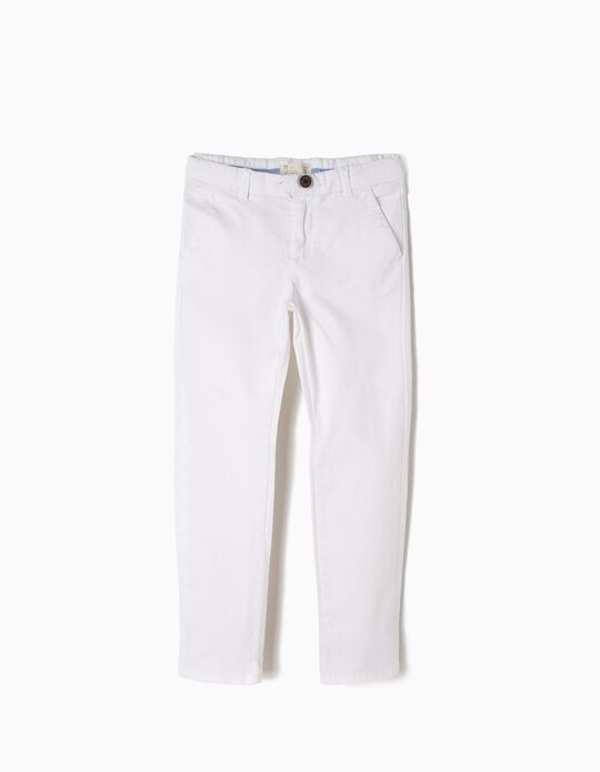 Calças Chino Brancas