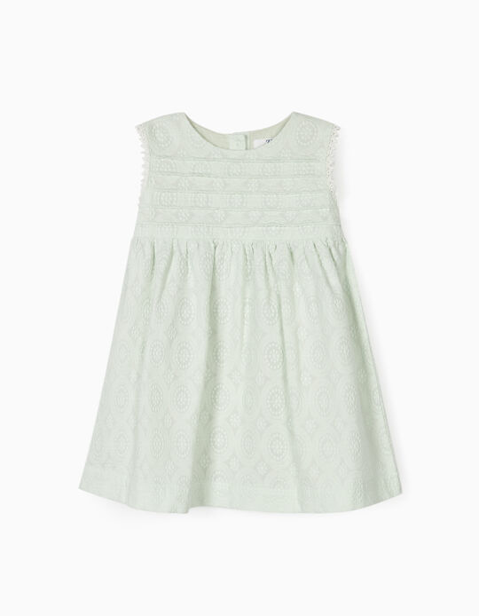 DRESS WITH BLOOMER SHORTS FOR BABY GIRLS, LIGHT GREEN