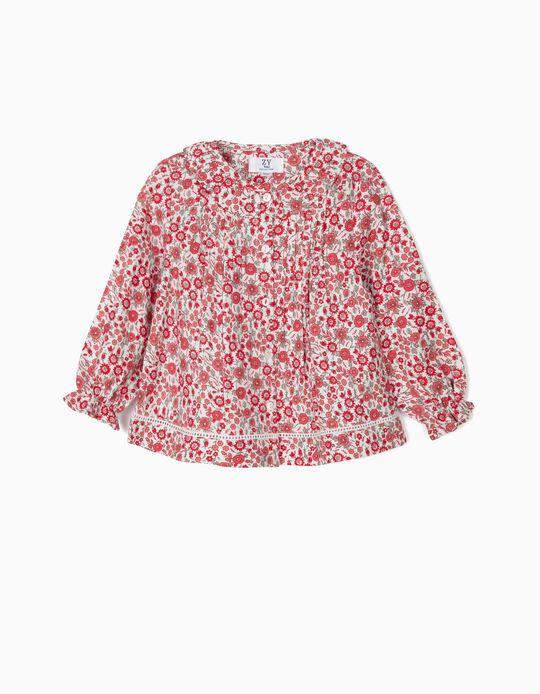 Blusa para Bebé Niña 'Flores', Roja