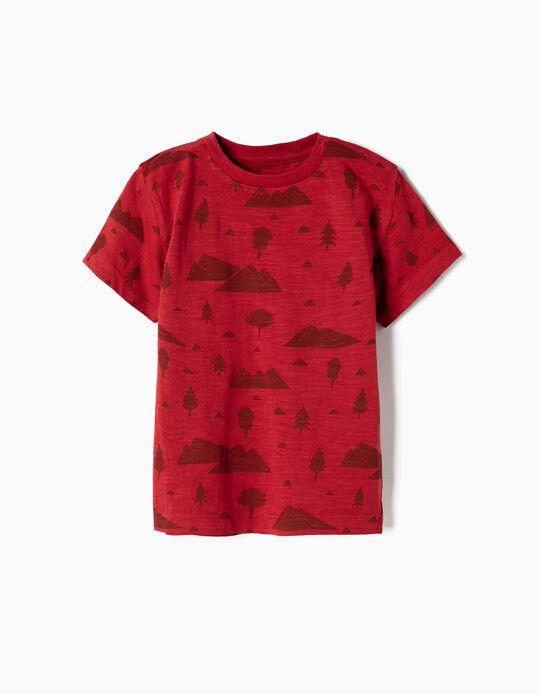 Camiseta para Bebé Niño 'Woods', Rojo