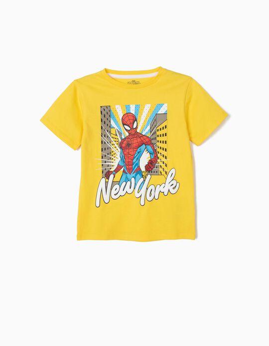 Camiseta para Niño 'Spider-Man', Amarilla