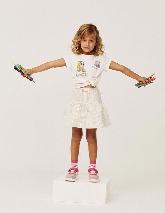 T-shirt para Menina 'Cool & Stylish', Branco