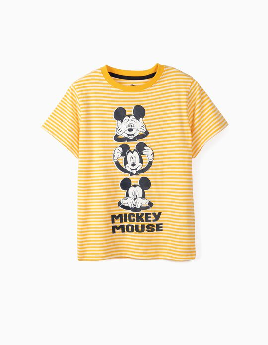 T-shirt para Menino 'Mickey', Branco e Amarelo
