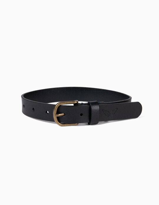 Leather Belt for Kids, Dark Blue