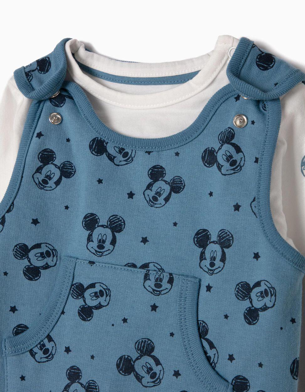 Conjunto Macacão e T-shirt Mickey