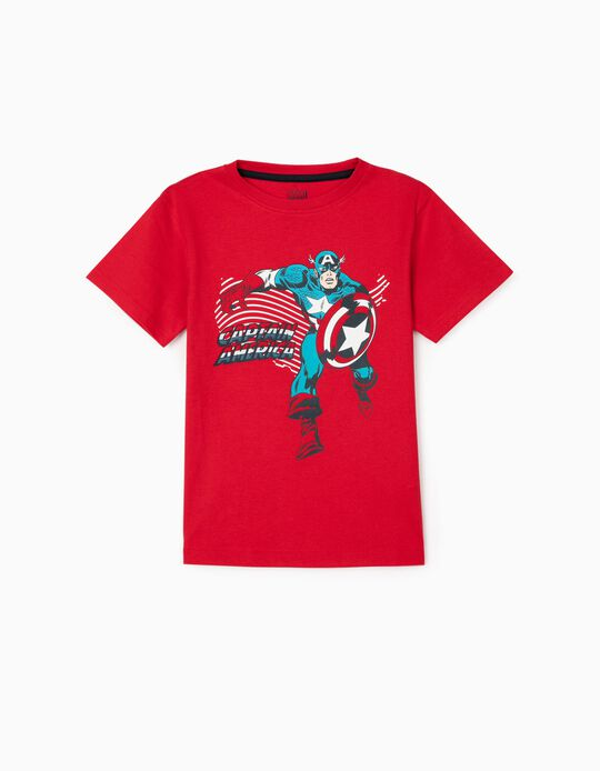 T-Shirt for Boys 'Captain America', Red