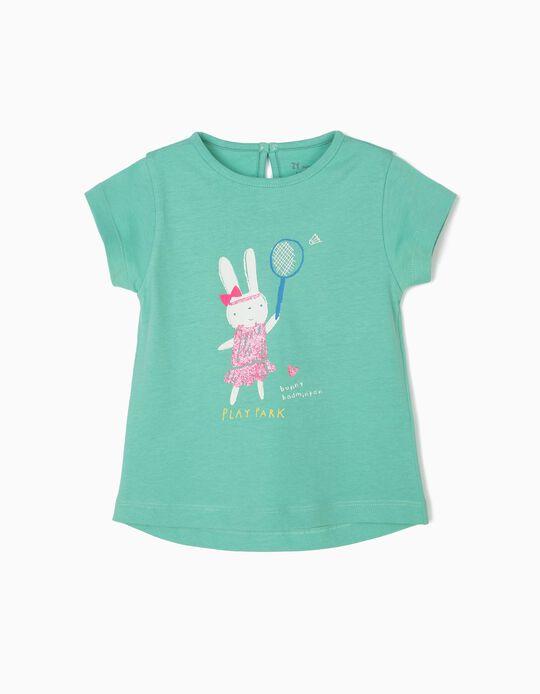 Camiseta para Bebé Niña 'Play Park', Verde