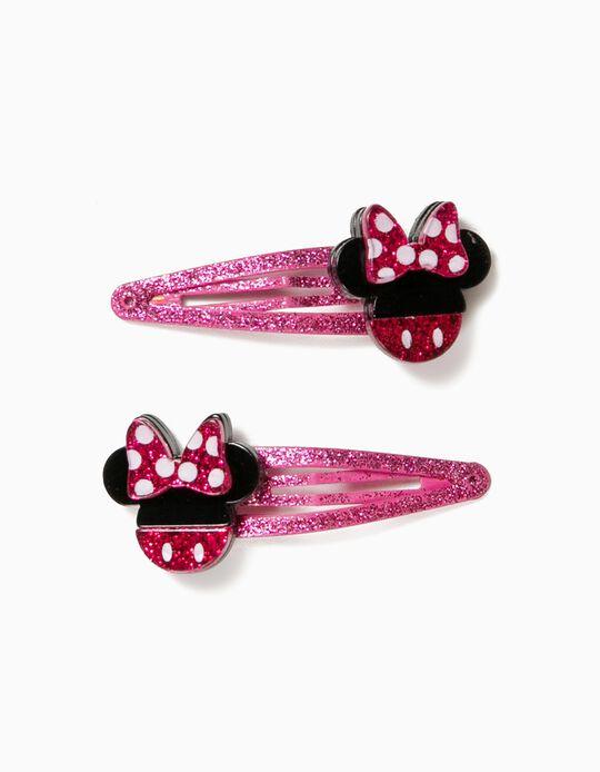 2 Ganchos de Cabelo para Menina 'Minnie', Rosa