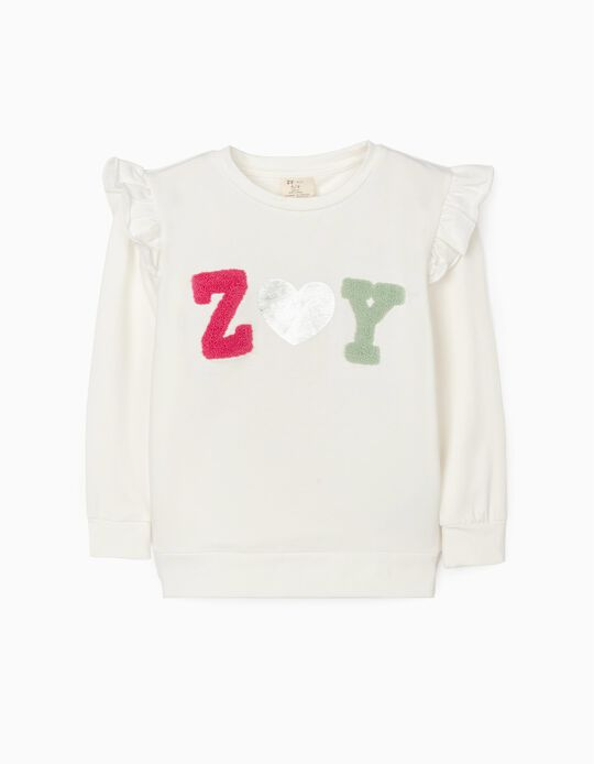 Sweatshirt para Menina 'ZY', Branco