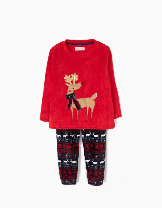 Pijama Camisola e Calças Rena Natal