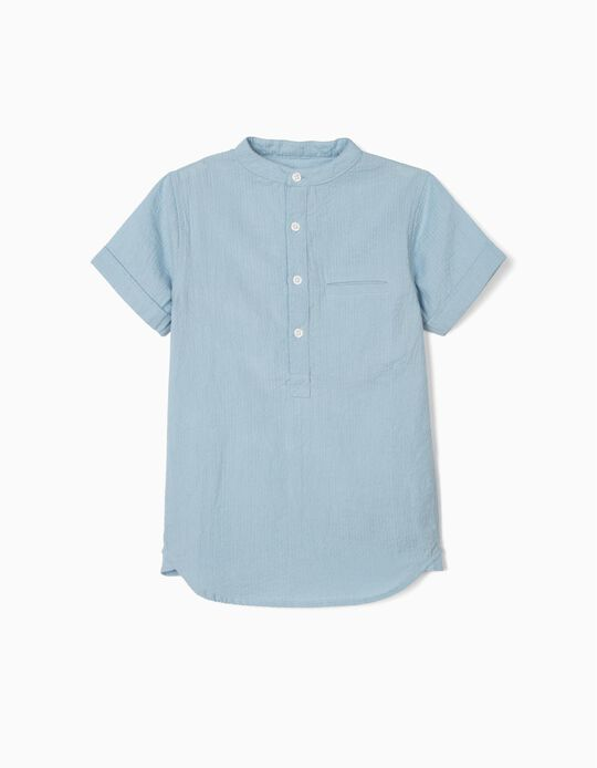 Textured Shirt for Boys, Blue