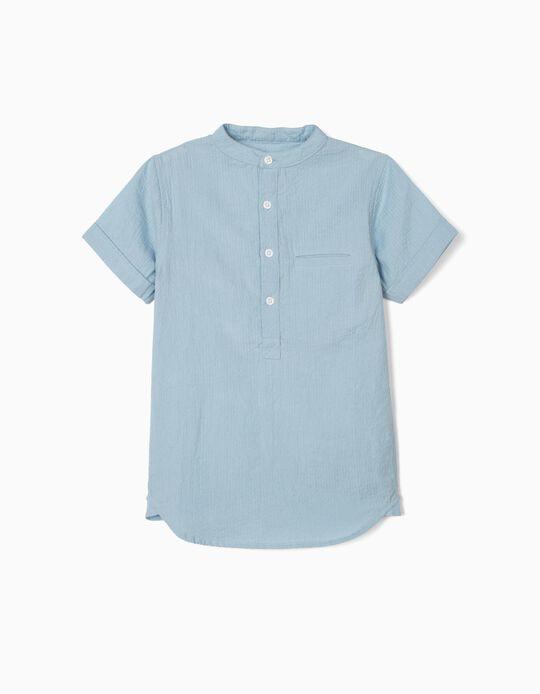 Chemise texturée garçon, bleu