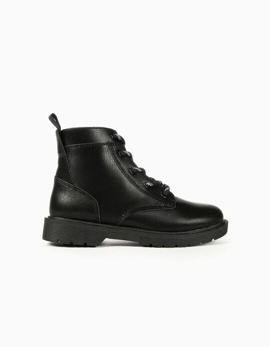 Biker Boots for Girls, Black