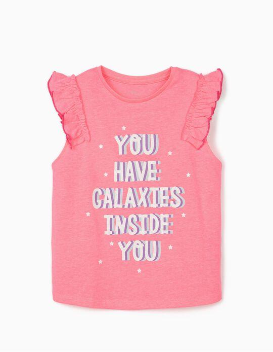 Camiseta Sin Mangas para Niña 'Galaxies', Rosa