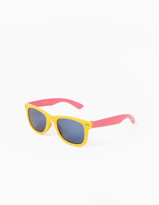 Gafas de Sol Amarillas y Rosa