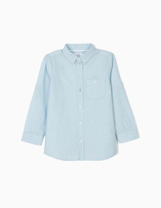 Camisa para Niño con Relieve, Azul