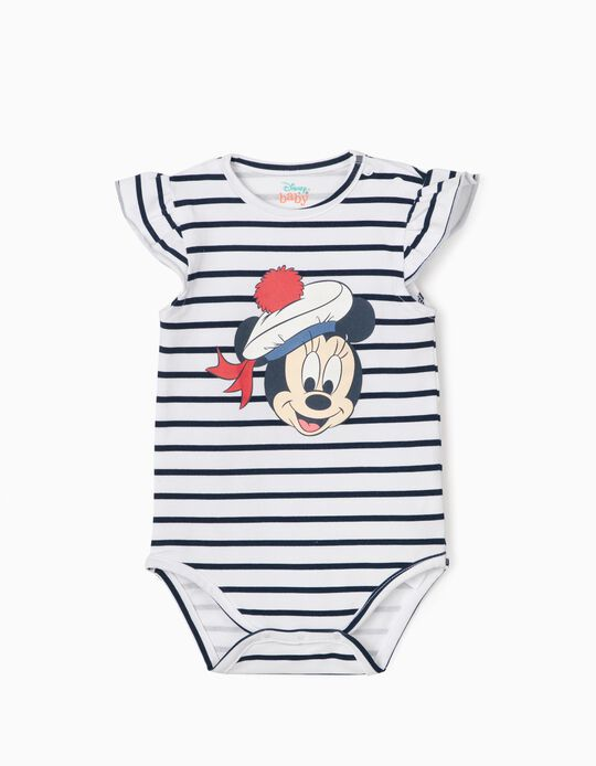 Body rayé nouveau-née 'Sailor Minnie', blanc/bleu