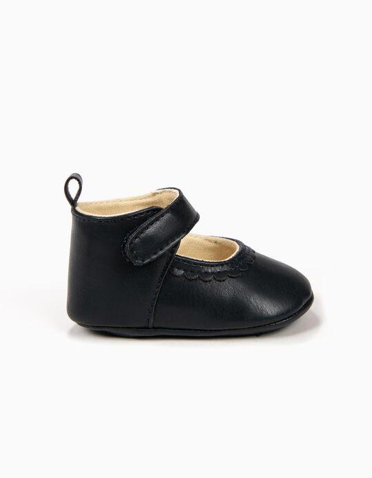 Sapatos para Recém-Nascida, Azul Escuro