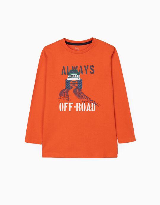 T-Shirts Manches Longues Garçon 'Off Road', Orange