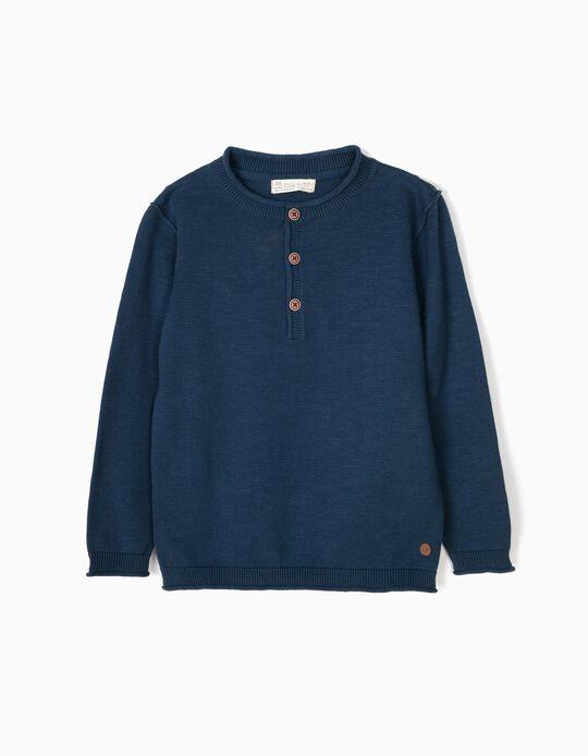 Camisola de Malha Azul