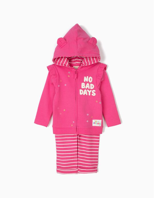 Chándal para Bebé Niña 'No Bad Days', Rosa