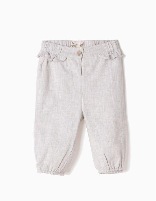 Pantalón Con Volantes