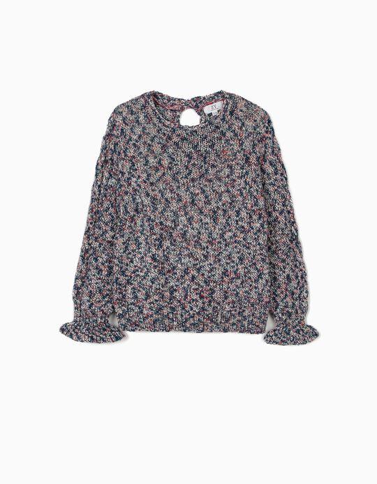 Camisola Malha para Menina, Multicolor