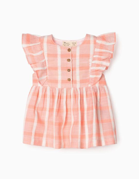 Textured Blouse for Baby Girls, Pink