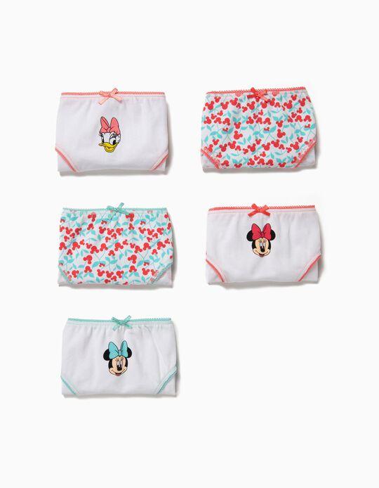 5 Culottes Fille 'Minnie & Daisy', Multicolore