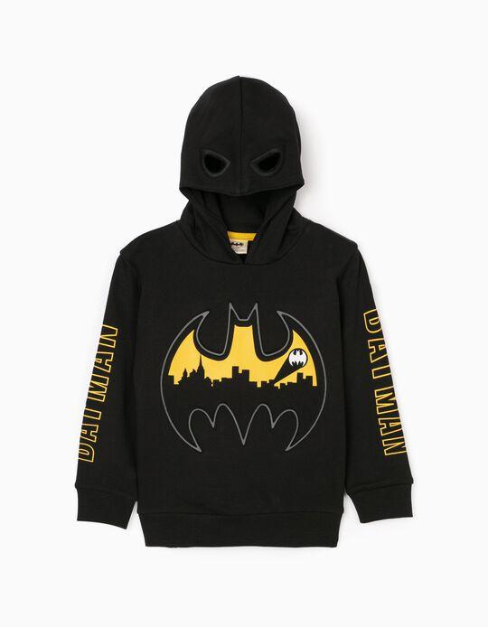 Sweat à Capuche-Masque Garçon 'Batman', Noir