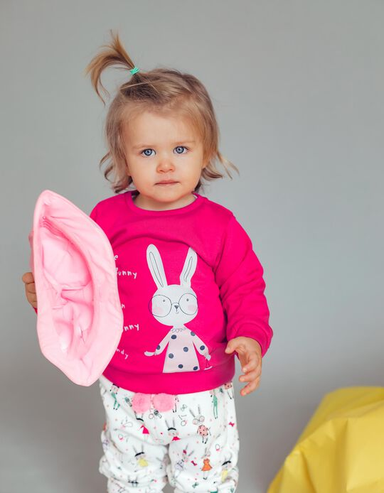 Sweatshirt for Baby Girls 'Cute Bunny', Pink