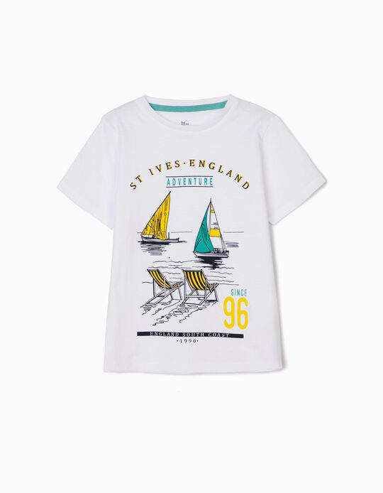 Camiseta para Niño 'England South Coast', Blanca