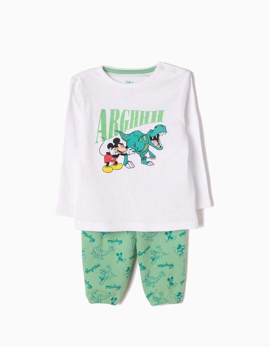 Pijama de Manga Larga y Pantalón Dino & Mickey