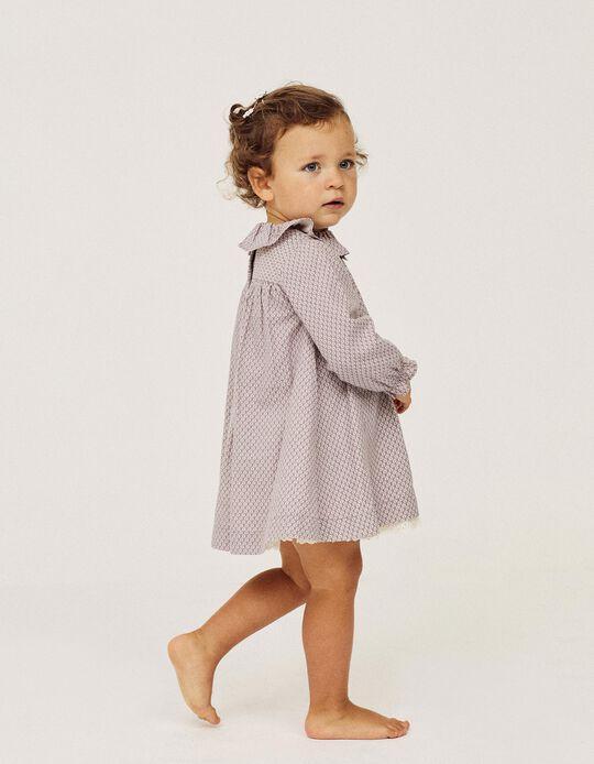 Vestido para Bebé Niña 'Leaves', Morado