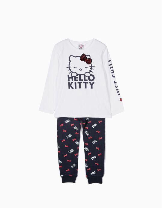 Pijama para Menina 'Hello Kitty', Branco e Azul
