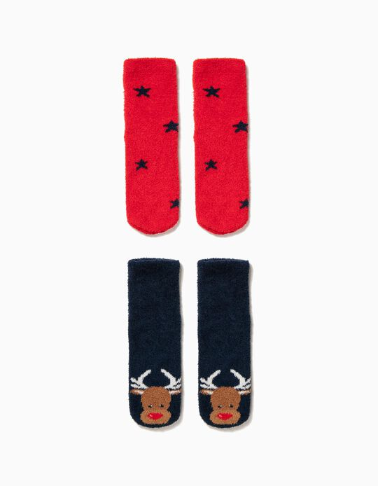 Pack 2 Calcetines Antideslizantes Christmas Deer