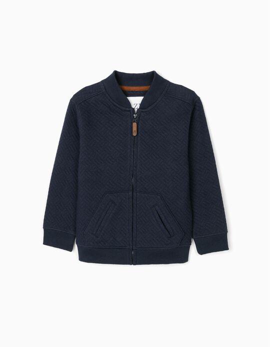 Textured Jacket for Boys, Dark Blue