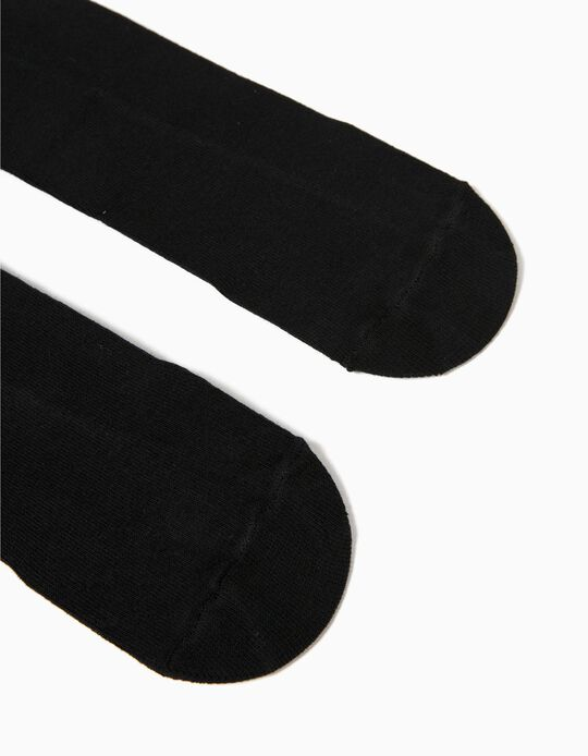 Knit Tights for Kids, Black