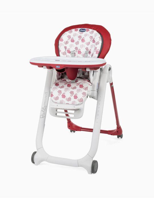 Cadeira de Refeição Polly Progres Chicco Red