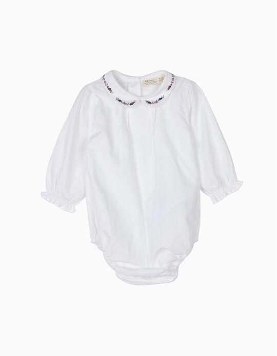 Body Blusa Recién Nacida con Cuello de Flores B&S