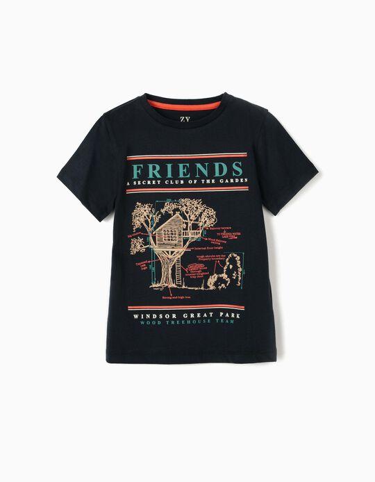 Camiseta para Niño 'Friends', Azul Oscuro