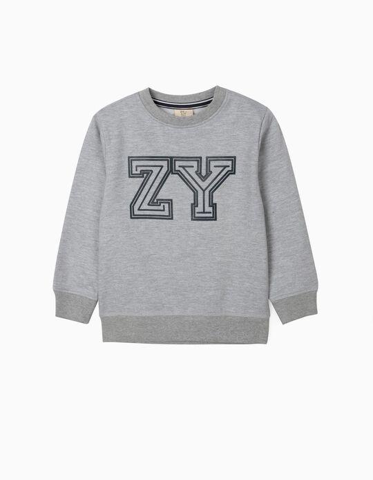 Sweat garçon 'ZY', gris